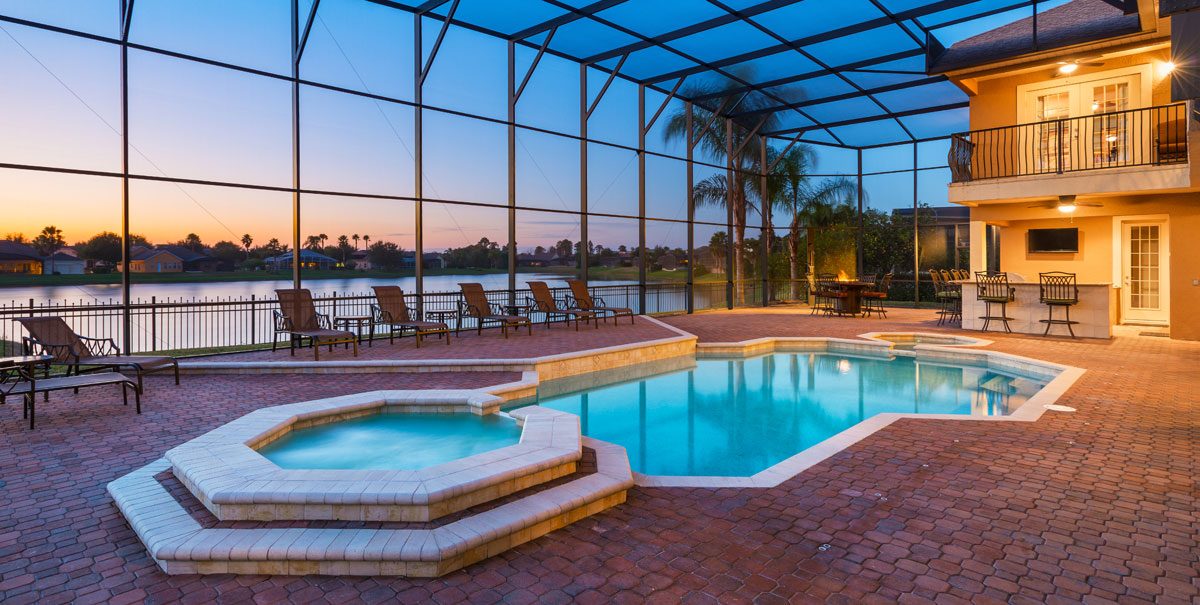 Vacation homes in orlando for Florida pool homes