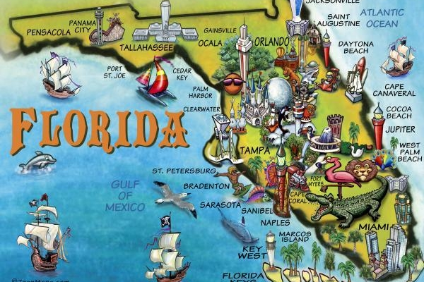 Get to know about the three most visited places in Florida State